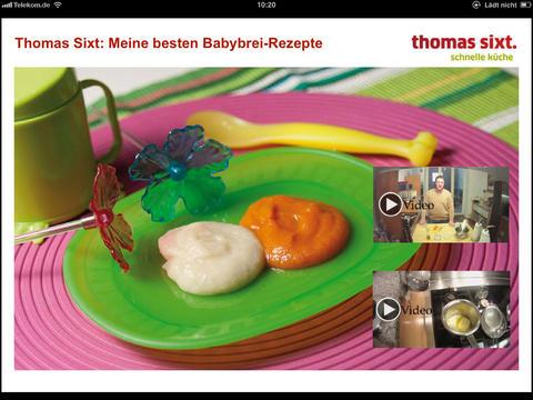 thomas sixt meine besten babybrei rezepte essens app f r. Black Bedroom Furniture Sets. Home Design Ideas