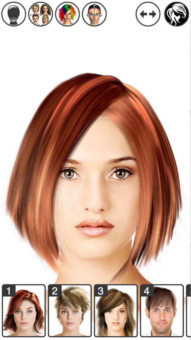 Hairstyles Virtual Mirror : Hairstyle Wizard For additionally App Try On Virtual Hairstyles ...